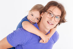 Abarcamiento del padre y de la hija Imagen de archivo libre de regalías