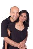Abarcamiento indio de los pares Fotografía de archivo libre de regalías