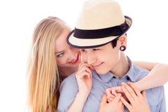 Abarcamiento lesbiano de los pares Fotografía de archivo libre de regalías