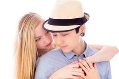 Abarcamiento lesbiano de los pares Imágenes de archivo libres de regalías
