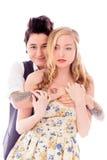 Abarcamiento lesbiano de los pares Imagen de archivo