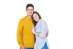 Abarcamiento sonriente de los pares Imagen de archivo libre de regalías