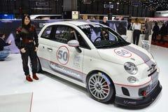 Abarth 695 Assetto Corse al salone dell'automobile di Ginevra Immagini Stock Libere da Diritti