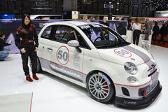 Abarth 695 Assetto Corse at the Geneva Motor Show Royalty Free Stock Images