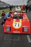 Abarth en la rejilla Imagenes de archivo