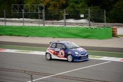 Abarth 695 Evo Trofeo在蒙扎 免版税库存图片