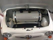 Abarth 500 Fiat bil Royaltyfri Bild