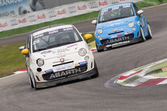 Abarth Italie et trophée de l'Europe Photo stock