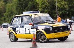Auto slalom Royalty Free Stock Photo