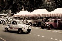600 Abarth Raser in Bergamo historischer Grandprix 2015 Lizenzfreies Stockbild