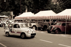 600 Abarth Speedster at Bergamo Historic Grand Prix 2015 Royalty Free Stock Image