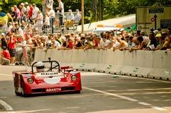 Abarth sportscar en la bandera 2017 de la plata de Vernasca Fotografía de archivo libre de regalías