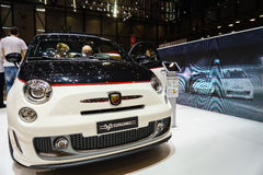 Abarth 595 Turismo, Motor Show Geneve 2015. Stock Images