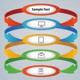 Abas com ícones para conceitos do negócio Foto de Stock Royalty Free