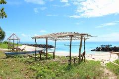 Abasi海滩曼诺瓦里巴布亚 库存图片