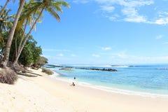 Abasi海滩曼诺瓦里巴布亚 免版税库存照片