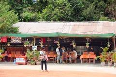 Abasteciendo en Angkor, Camboya Foto de archivo