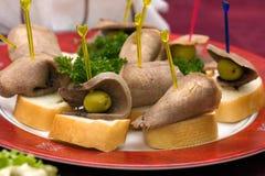 Abastecimento - aperitivo da lingüeta de carne Imagens de Stock Royalty Free