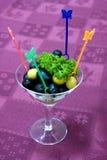 Abastecimento - aperitivo das azeitonas Fotografia de Stock Royalty Free