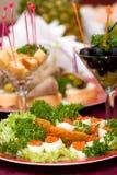 Abastecimento - aperitivo do caviar Fotografia de Stock