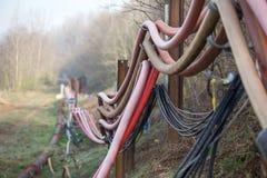 Abastecimento de água no hambach Alemanha da mineração de superfície de carvão fotos de stock royalty free