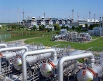 Abastecimento de gás Foto de Stock Royalty Free