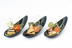 Abastecimento do alimento de dedo perfeito para um evento ou um banquete de casamento Fotos de Stock Royalty Free