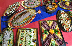 Abastecimiento alimento fresco y teasty Imágenes de archivo libres de regalías
