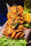 Abastecimiento culinario de la cena de la comida fría de la cocina que cena concepto del partido de la celebración de la comida Imagen de archivo libre de regalías