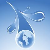 Abastecimiento de agua del mundo ilustración del vector