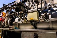 Abastecimiento de agua y maquinaria del mantenimiento de las aguas residuales Imagen de archivo libre de regalías