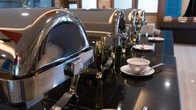Abastecimiento de la comida fría de la comida interior en restaurante de lujo en el hotel para nosotros Foto de archivo libre de regalías