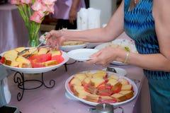 Abastecimiento de la comida fría de la comida que cena comiendo el partido que comparte concepto Imágenes de archivo libres de regalías