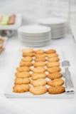 Abastecimiento de la comida Galletas frescas deliciosas Foto de archivo libre de regalías
