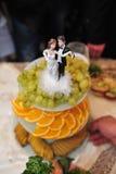 Abastecimiento de la preparación de comida en la boda al aire libre Foto de archivo