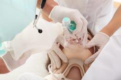 Abastecimiento de la ventilación artificial Imagen de archivo libre de regalías