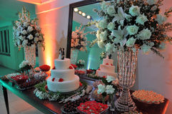 Abastecimiento del banquete de boda Imagenes de archivo