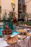 Abastecimiento del banquete del hotel Foto de archivo libre de regalías