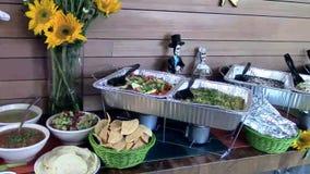 Abastecimiento mexicano de la comida fría del restaurante de la comida metrajes