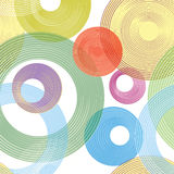 Abastract geometric seamless pattern. Bubble ornament Royalty Free Stock Images
