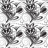 Abastract seamless pattern. Black pattern on a white background. Monochrome seamless pattern. Black pattern on a white background Royalty Free Stock Photo