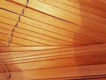Abat-jour de fenêtre en bois Images stock