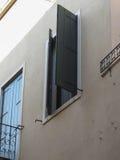 Abat-jour de fenêtre en bois Image libre de droits