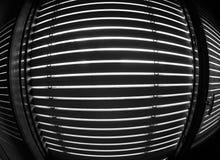 Abat-jour de fenêtre en noir et blanc Photo libre de droits