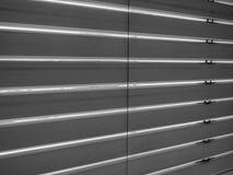 Abat-jour de fenêtre en noir et blanc Images libres de droits