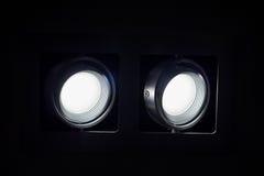 Abat-jour de lampe noire moderne en métal Images stock