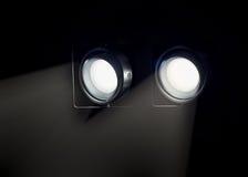 Abat-jour de lampe noire moderne en métal Photo stock