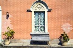 Abat-jour de Venegono dans le banc gris concret Photo libre de droits
