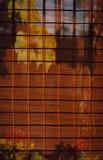 Abat-jour en bambou dans une Chambre intérieure Photographie stock libre de droits