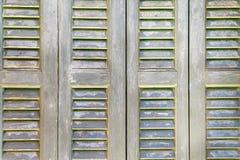 Abat-jour en bois texturisés de volet ou de soleil-protection Image libre de droits